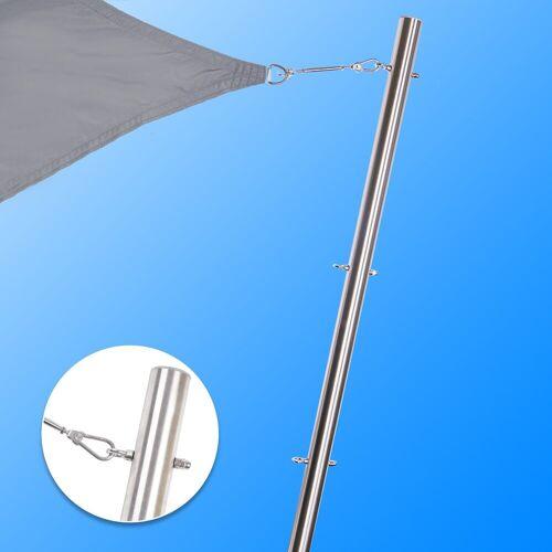 Toldoro Sonnensegel »Edelstahl Stange für Sonnensegel mit 3 Ösen Höhenverstellbar Ø70x3mm V2A«