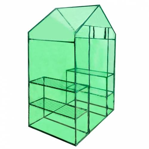 vidaXL Gewächshaus »Begehbares Gewächshaus mit 4 Regalen«