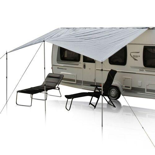 yourGEAR Sonnensegel »Wohnwagen Sonnensegel Caravan Tarp 3 x 2,4 m Sonnendach inkl. Aufstellstangen wasserdicht 5000 mm«, Personen: 0