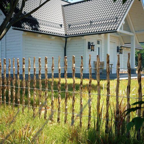 Oskar-Store Staketenzaun »Holzzaun Gartenzaun Haselnuss Lattenabstand 7-8 cm 500cm 80cm hoch«