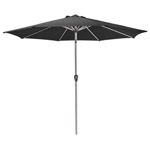 AMARE Sonnensegel »Luxus Sonnenschirm rund«, Wetterfest, schwarz
