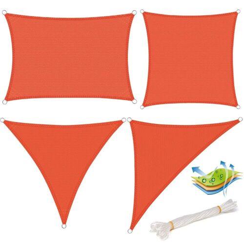 Woltu Sonnensegel, Sonnensegel HDPE Windschutz UV Schutz Terrakotta