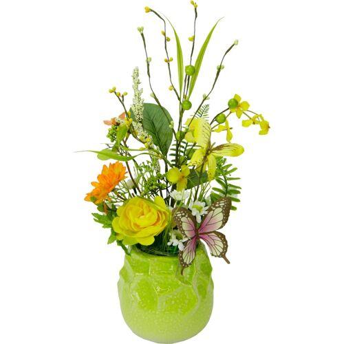 I.GE.A. Kunstpflanze Blüten/Schmetterling, , Höhe 40 cm
