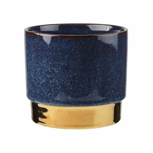 BUTLERS Blumentopf »GOLDEN TOUCH Blumentopf Ø 15 cm«, Blau-Gold