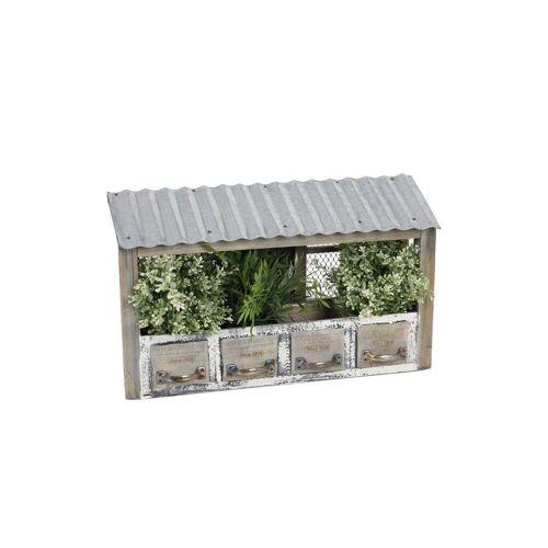 HTI-Living Blumenkasten »Blumenkasten Holz Nature«