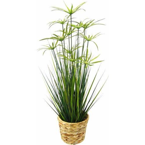I.GE.A. Kunstpflanze »Zyperngras in Wasserhyazinthentopf« Zyperngras, , Höhe 90 cm