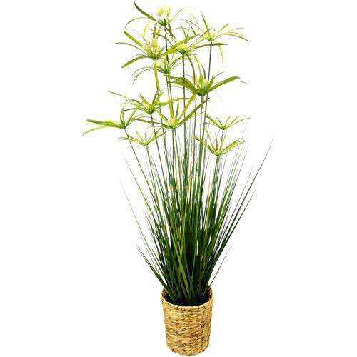 I.GE.A. Kunstpflanze »Zyperngras in Wasserhyazinthentopf« Zyperngras, , Höhe 120 cm