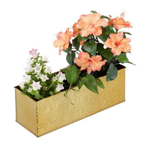 relaxdays Blumenkasten »Blumenkasten für innen«, Gold