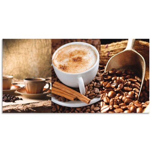 Artland Küchenrückwand »Kaffee - Cappuccino - Heißer Kaffee«, (1-tlg)