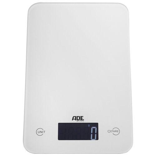 ADE Küchenwaage »KE 926 - Slim«, mit Sensor-Touch, 15 mm flach, grammgenau bis 5kg, weiß
