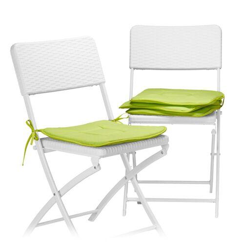 relaxdays Stuhlkissen »Stuhlkissen 4er Set«, Grün