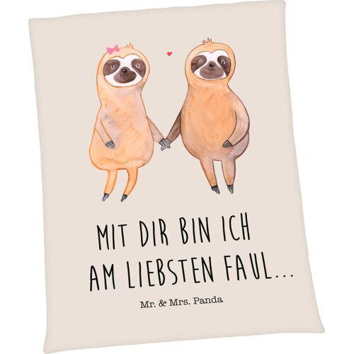 Wohndecke »Well-Soft-Decke Mr. & Mrs. Panda«, mit liebevollem Schriftzug