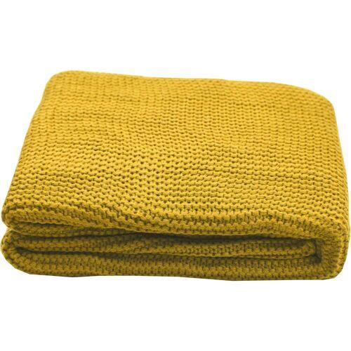 TOM TAILOR Plaid »Plain Knit«, , Zeitlos schön, gelb