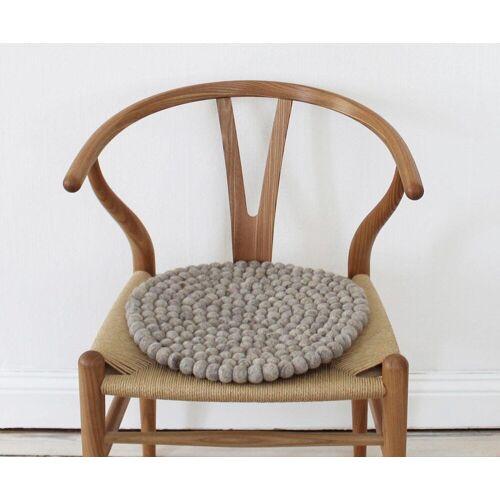 Wooldot Sitzkissen »Uni Color«, rund, Filzkugel-Teppich, reine Wolle, auch als Set bestellbar, sand