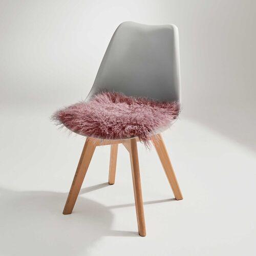 BUTLERS Sitzkissen »TASHI Lammfell Stuhlauflage 35x35 cm«, Dunkelorange