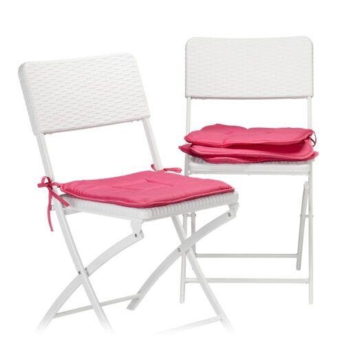 relaxdays Stuhlkissen »Stuhlkissen 4er Set«, Pink