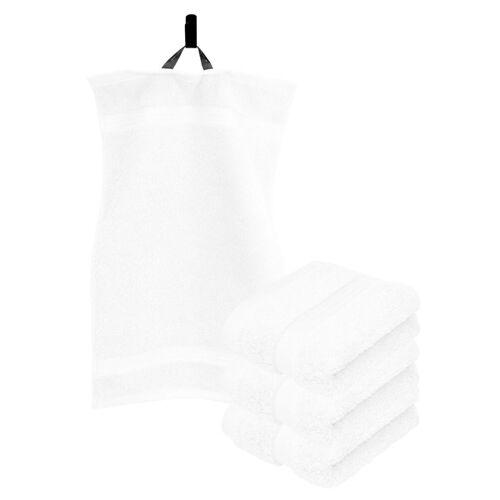 Lashuma Handtuch Set »Linz« (Set, 4-tlg), Gästehandtücher 30x50 cm, Handtücher Frottee, Weiß