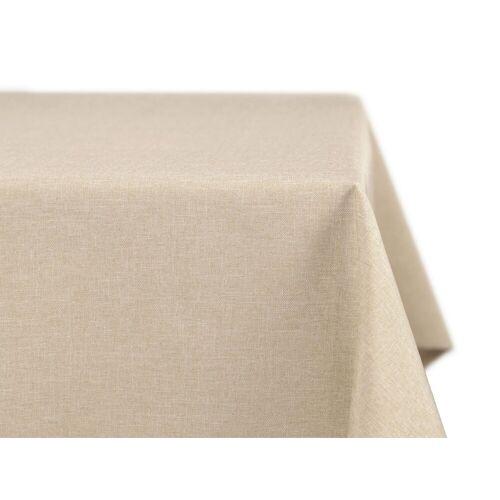 Beautex Tischdecke »fleckenabweisende und bügelfreie Tischdecke - Tischtuch mit Lotuseffekt - Tischwäsche in Leinenoptik« (1-tlg), Sand