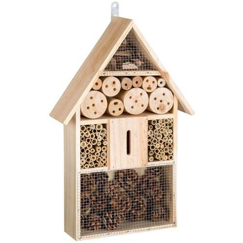 tectake Insektenhotel »Insektenhotel aus Holz«