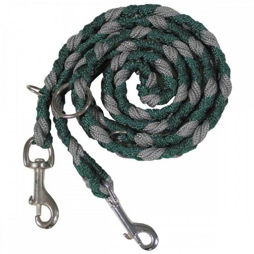 MFH Hundeleine »Hundeleine, geflochten, grün/grau, 3-fach verstellbar«, Nylon