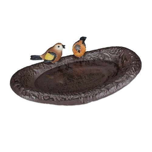 relaxdays Vogeltränke »Vogeltränke Gusseisen mit Vögeln«