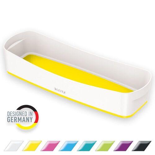 LEITZ Aufbewahrungsbox »WOW Aufbewahrungsschale Länglich«, ideal für Stifte, gelb