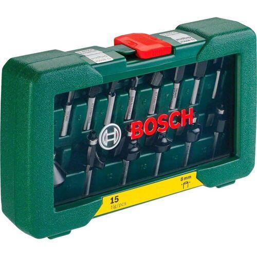 Bosch Schaftfräser, Set, 15-tlg., HM-Fräser mit 8 mm Schaft