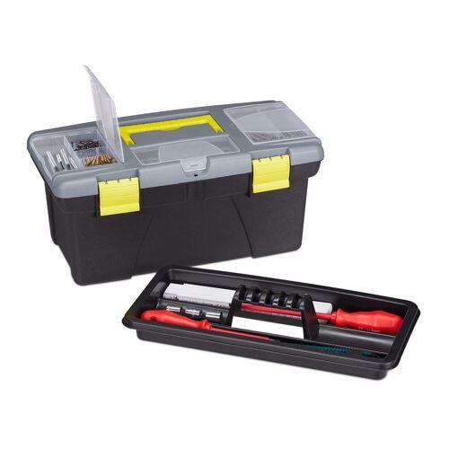 relaxdays Werkzeugkoffer »Werkzeugkoffer leer«