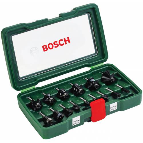 Bosch Abrundfräser, Set, 15-tlg.