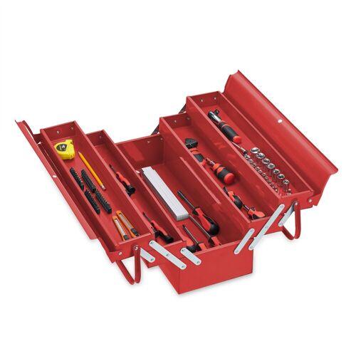 relaxdays Werkzeugkoffer »Werkzeugkoffer leer rot«