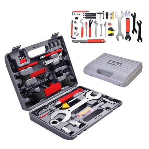 COSTWAY Werkzeugkoffer »Werkzeugkoffer« (44 Stück), 44 TLG. Fahrrad Werkzeugkoffer, Fahrradwerkzeug