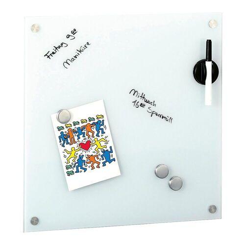 "Zeller Present Memoboard »Glas Memoboard Set ""Uni"" 40x40 cm«"