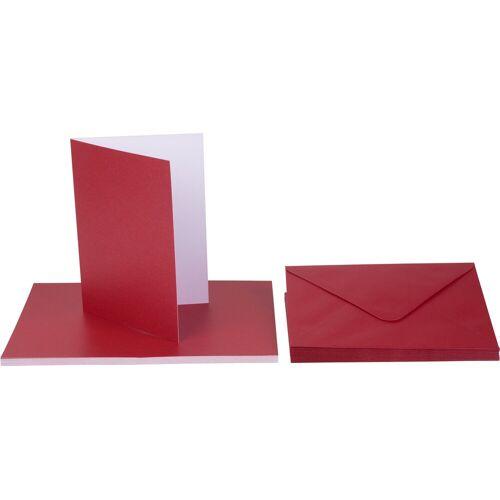 VBS Karte, Perleffekt, Rot, 40-tlg