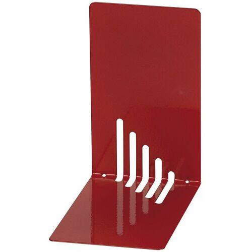 WEDO Buchstütze »Buchstützen Metall 14 x 8,5 x 14 cm weiß, 2 Stück«, rot