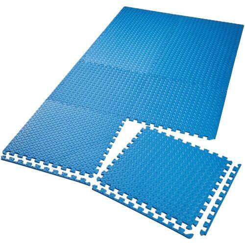 tectake Bodenschutzmatte »Bodenschutzmatte 8-tlg.«, blau