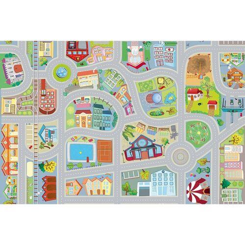 ACHOKA® Kinderteppich »Spielteppich Stadt mit zwei Autos«,