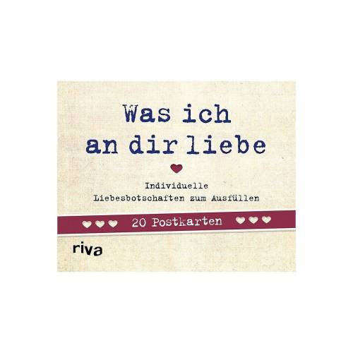 Riva Verlag Grußkarte »Was ich an dir liebe - 20 Postkarten«