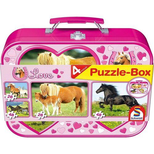 Schmidt Spiele Puzzle-Tasche »Pferde, Puzzle-Box 2x26, 2x48 Teile im«