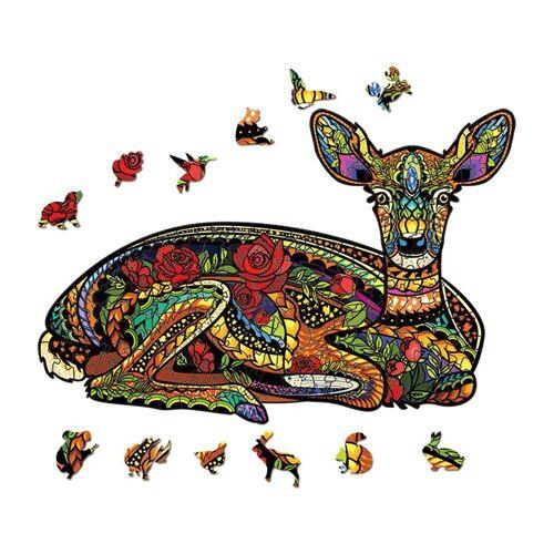 kueatily Puzzlematte »Holzpuzzle, Holzpuzzle für Erwachsene und Kinder, Holzpuzzle Holzpuzzle Tiere Spielzeug Ideal für Familienspielsammlung Geschenk«, Puzzleteile