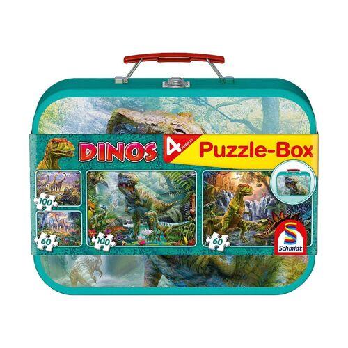 Schmidt Spiele Puzzle-Tasche »Puzzlekoffer 2 x 60 + 2 x 100 Teile Dinos«