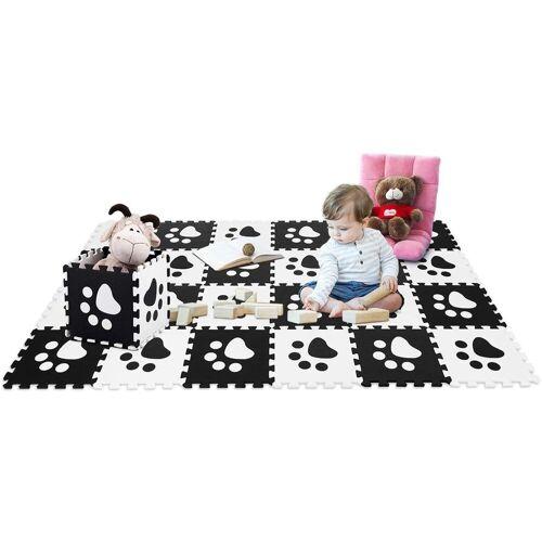 COSTWAY Puzzlematte »Puzzlematte 24 Stück«, Schwarz+Weiß