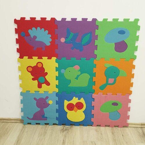 style home Puzzlematte, 9 Puzzleteile, Puzzlequadrate Bodenmatte Spielteppich Kinderteppich Spielmatte Lernteppich Schadestofffrei (9 puzzlematte)