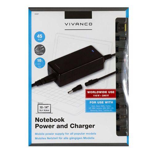 Vivanco Notebook & USB Power Charger 45 Watt