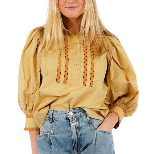 Antik batik Mali Bluse , , ,  beige