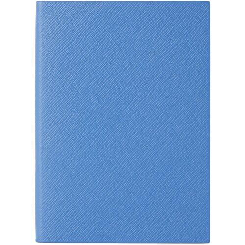 Smythson Blue Leather Soho Notebook UNI