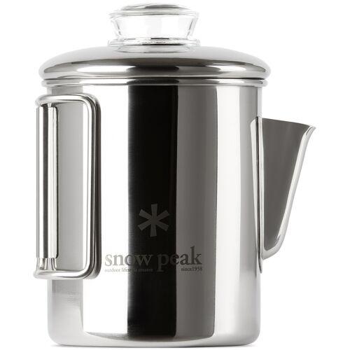 Snow Peak Silver Stainless Coffee Percolator, 30.4 fl oz UNI