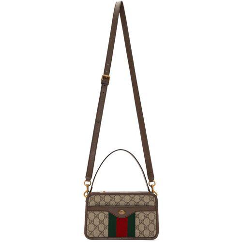 Gucci Beige GG Supreme Web Messenger Bag UNI
