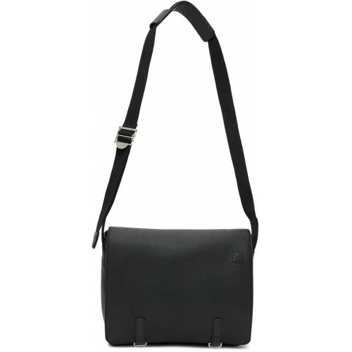 Loewe Black Military Messenger Bag UNI