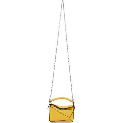 Loewe Yellow Nano Puzzle Bag UNI