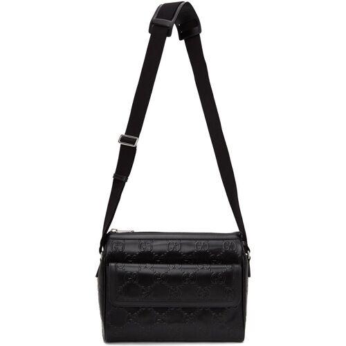 Gucci Black GG Embossed Messenger Bag UNI